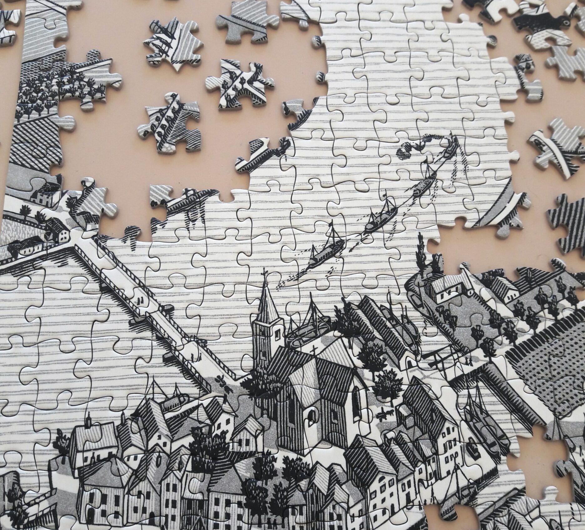 Puzzle mit Stadt