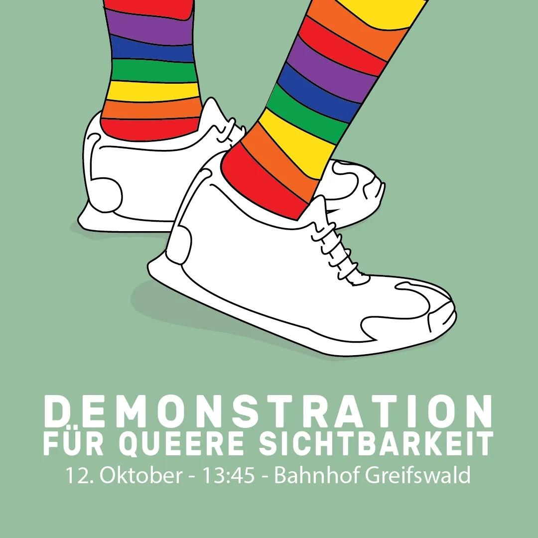 Demo für queere Sichtbarkeit • 12. Oktober 2020 •  13:45 Uhr • Hauptbahnhof Greifswald