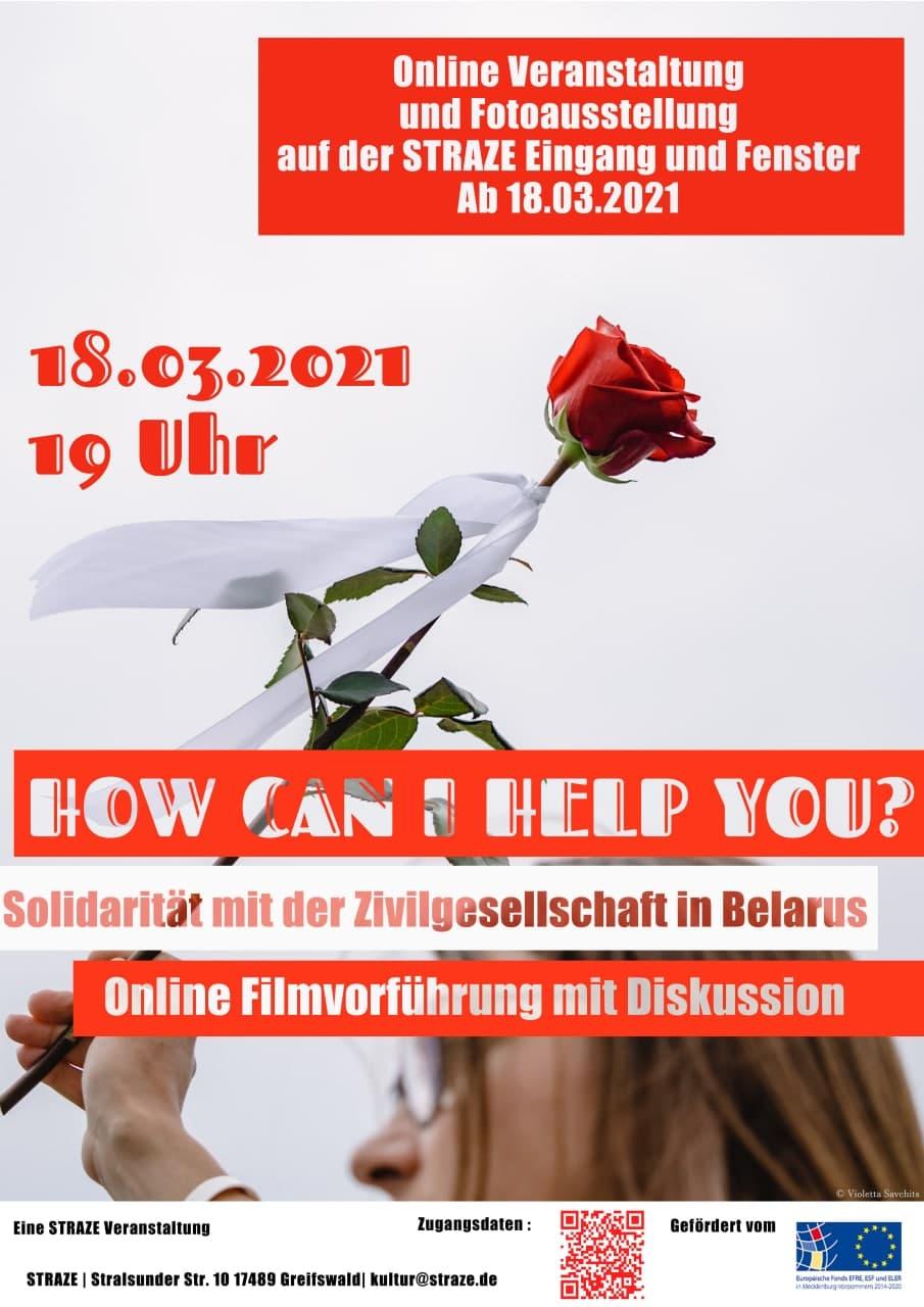 How can I help you? Solidarität mit der Zivilgesellschaft in Belarus