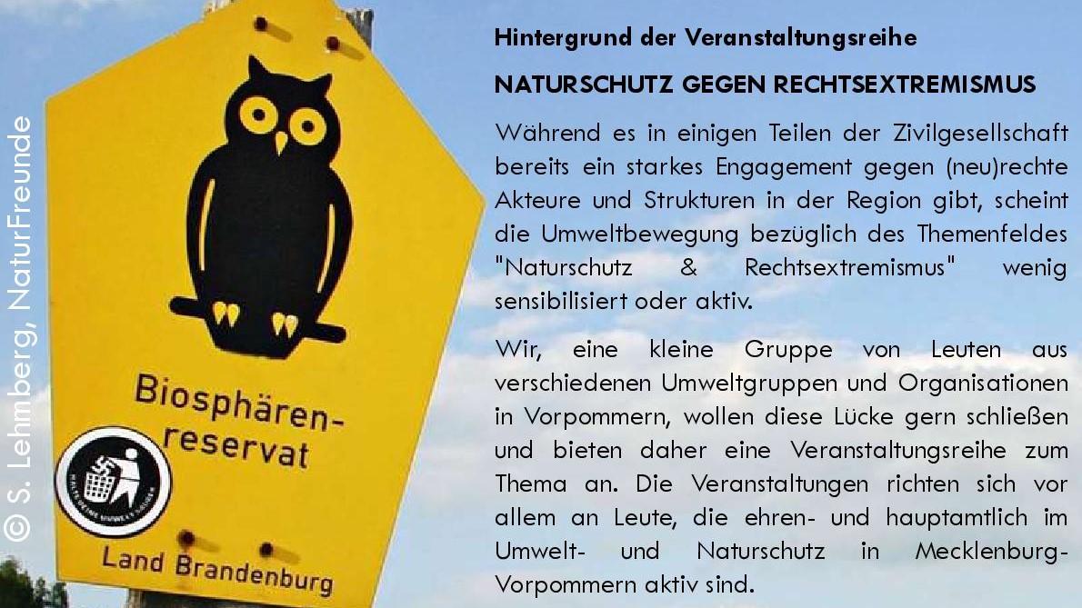15.04. 18 Uhr Strategien im Umgang mit extrem rechten Positionen in Umwelt- und Naturschutzgruppen